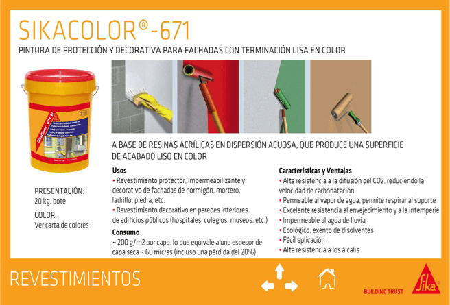 Revestimiento Liso SikaColor