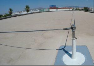 Instalación de líneas de vida de acero inoxidable Lux Top en Metro Málaga