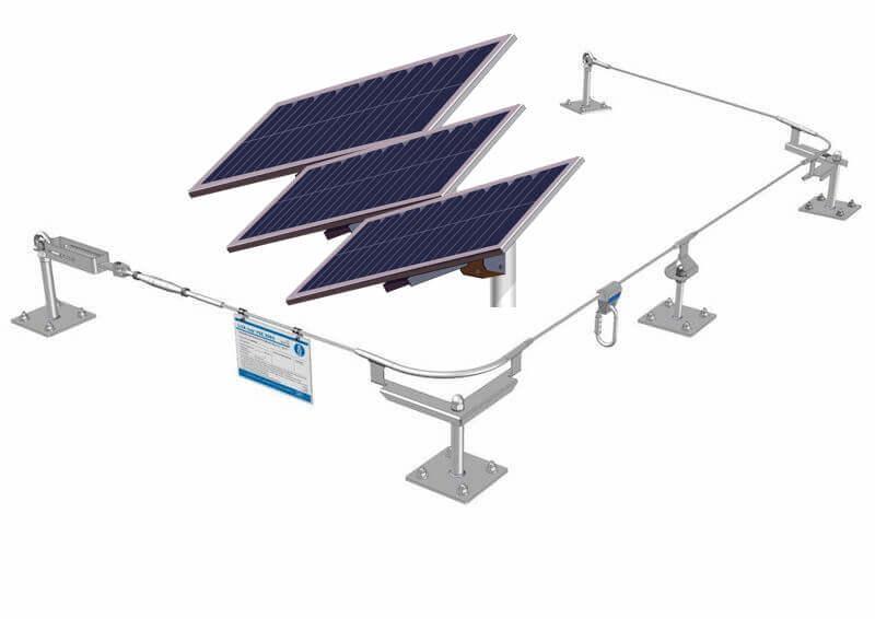 Líneas de Vida para Mantenimiento de Cubiertas con Panel Solar