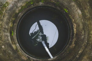 The waterproofing of a cistern
